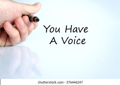 You have a voice text concept isolated over white background