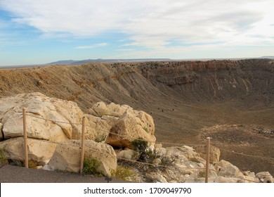 You are looking at the outer rim of the impact area at Metor Crater National Landmark