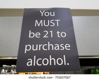 you must be 21 to purchase alcohol sign