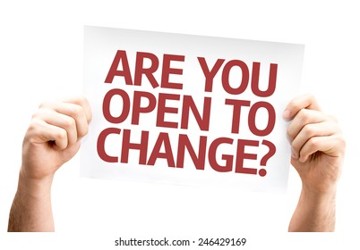Are You Open to Change? card isolated on white background
