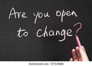 Are you open to change words written on the blackboard using chalk