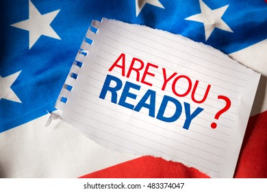 Are you ready on notepaper and the US flag