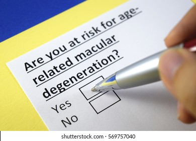 Are you at risk for age-related macular degeneration? Yes