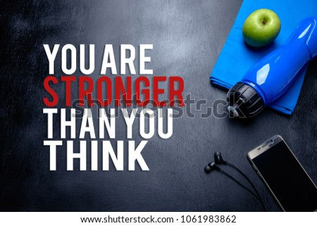 You Stronger Than You Think Inspirational Stock Photo Edit Now