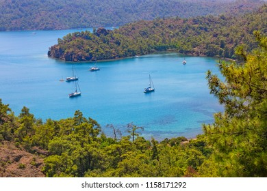 If you want to see all the colors of nature together, you will see the magnificent view and the Inbuku Cove, there you are. Marmaris-Mugla, Turkey