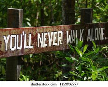 You'll never walk alone at Tanjung Piai Johor National Park, Malaysia