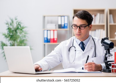 Young adult doctor working in the hospital