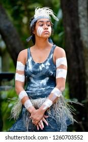 Young adult Indigenous Australianswoman in Queensland, Australia.