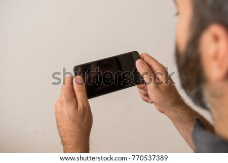 Young Adult Man Play Black Screen Stock Photo Edit Now 770537389