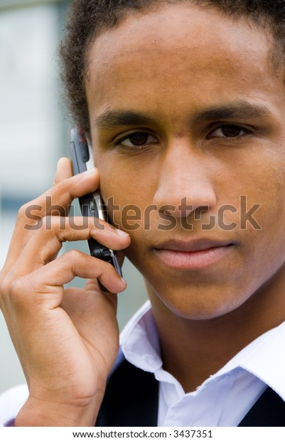young adult with mobile phone