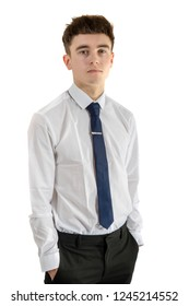 Young adult wearing office attire