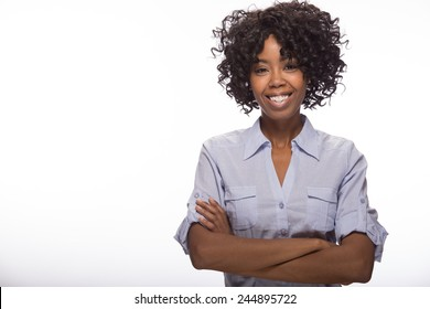 Young African American black woman smile happy face portrait