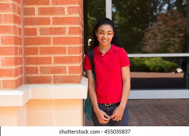 Young african american college student on campus