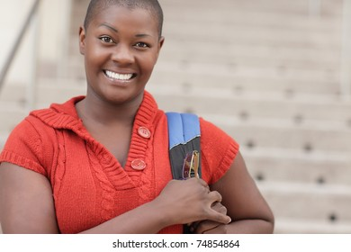 Young African American female student