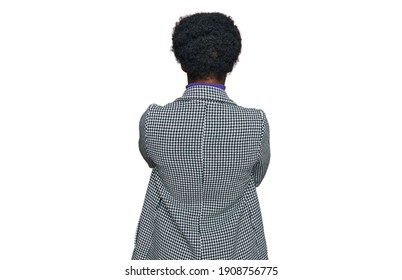 Young african american girl wearing casual clothes standing backwards looking away with crossed arms