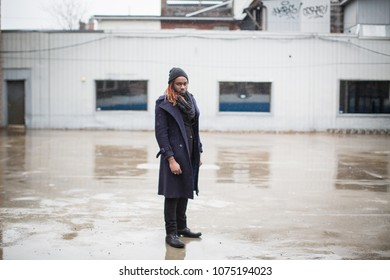 Young african american model posing in lot