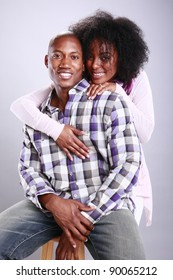 Young African American urban couple