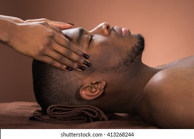 Black man getting a massage