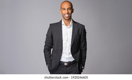 Young African-American businessman in a suit