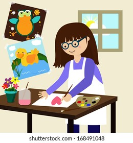 Young Artist Painter