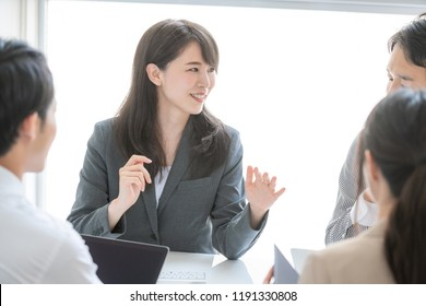 Young asian businesswoman in th meeting room.