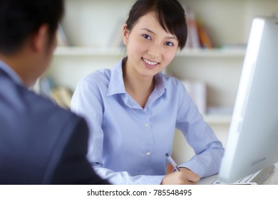 young asian businesswoman working indoor