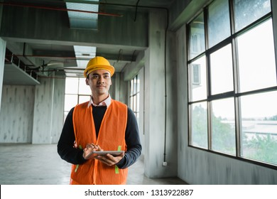 young asian engineer doing inspection on project installation
