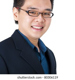 Young Asian Executive with his cheerful smiling