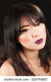 young asian female with beauty makeup on