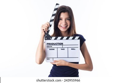young asian girl with director style