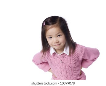 A young asian girl having funl. Youth, childhood, growing up.