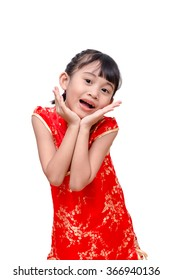 Young Asian girl in traditional chinese dress
