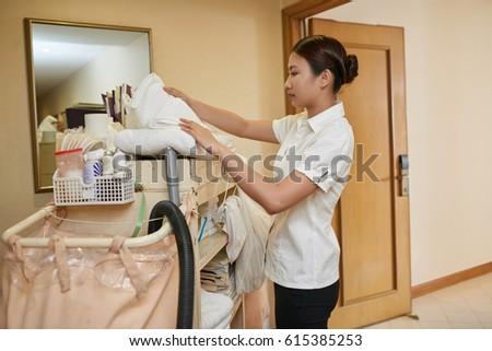 Photo asian maid