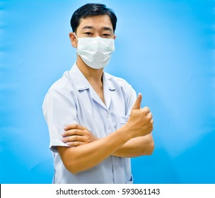 Young asian male nurse.