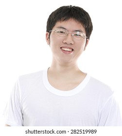 Young Asian man isolated
