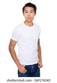 Young Asian man with smiling
