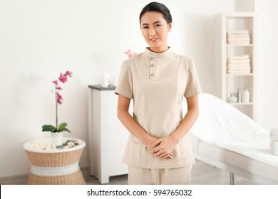 spa uniform images stock photos vectors shutterstock