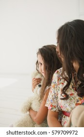 young asian mother and caucasian or evropean daughter. lifestyle image
