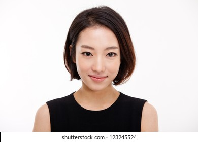 Young Asian pretty business woman close up portrait .