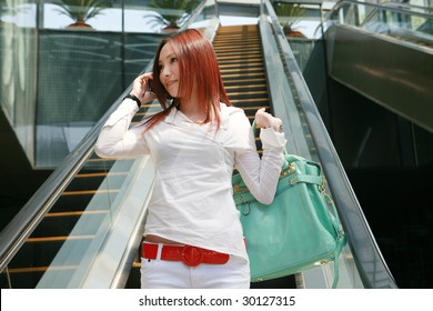 young asian  woman going on shopping