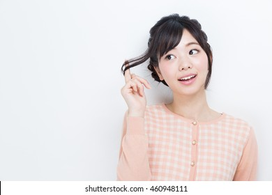 young asian woman hairstyle image