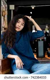 Young asian woman hipster.
