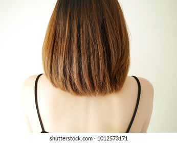 young asian woman  model hair colored.