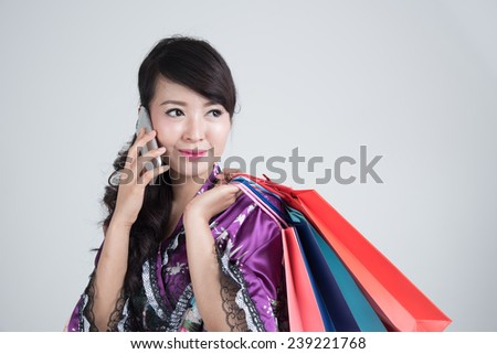 Asian oriental shopping
