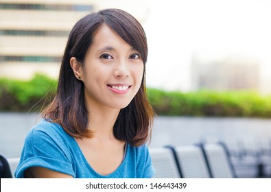 Young asian woman at outdoor