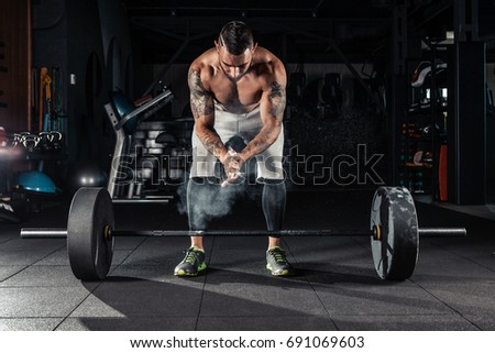 f3d0c03303e4 Young Athlete Getting Ready Crossfit Training Stock Photo (Edit Now ...