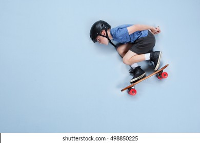 Young athlete on a skateboard
