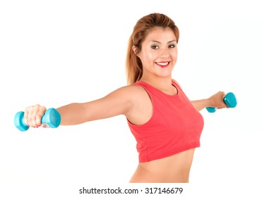young athlete on white background