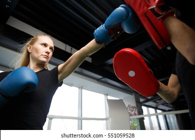 Young athletes compete in boxing
