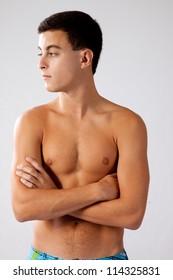 Teenager Boy Shirtless Images Stock Photos Vectors Shutterstock